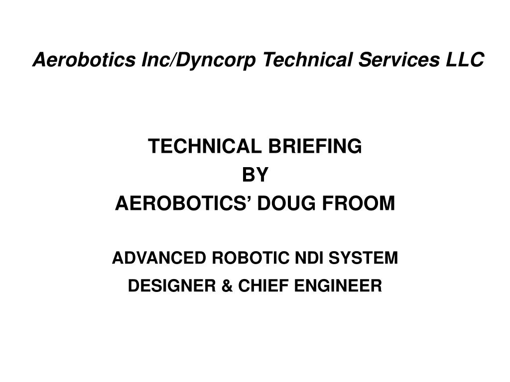 aerobotics inc dyncorp technical services llc l.