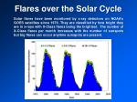 flares over the solar cycle