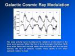 galactic cosmic ray modulation