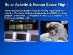 solar activity human space flight