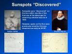 sunspots discovered