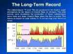 the long term record