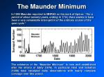 the maunder minimum