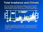 total irradiance and climate