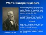 wolf s sunspot numbers