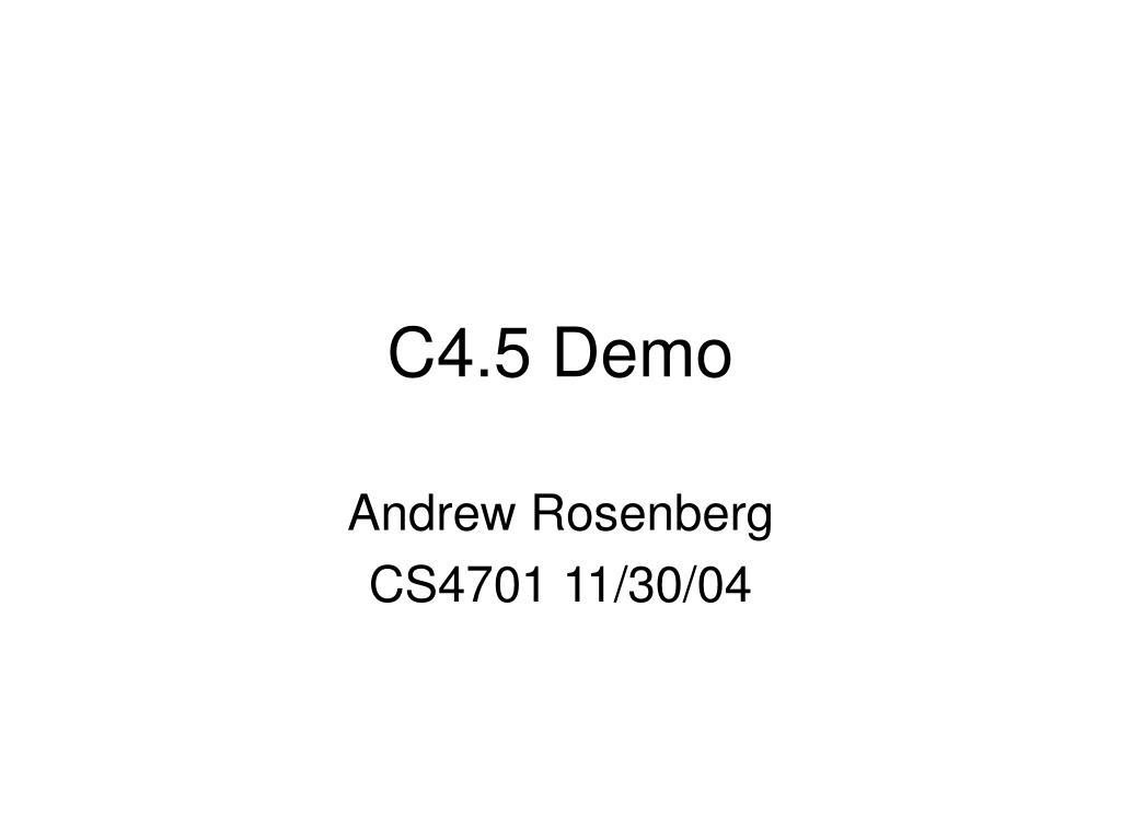 c4 5 demo l.