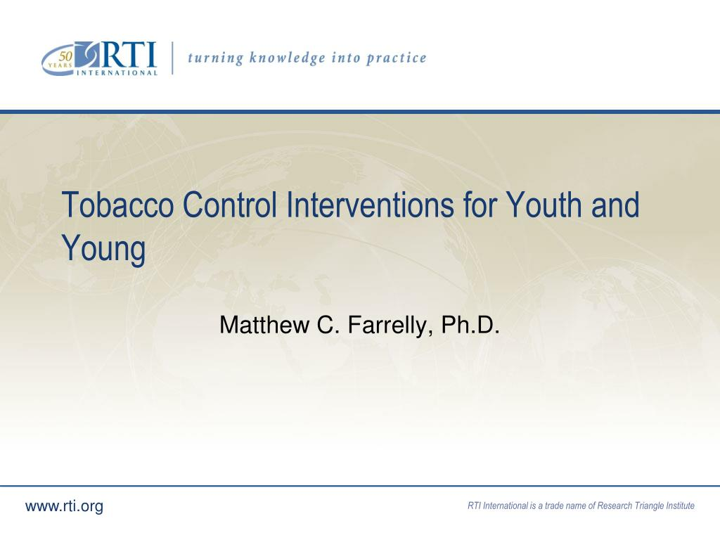 tobacco control interventions for youth and young l.