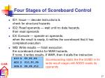 four stages of scoreboard control
