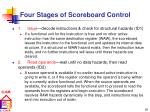 four stages of scoreboard control18