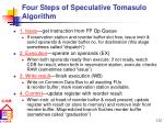 four steps of speculative tomasulo algorithm