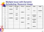 multiple issue with dynamic scheduling resource usage107