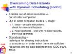 overcoming data hazards with dynamic scheduling cont d