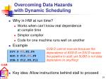 overcoming data hazards with dynamic scheduling
