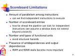 scoreboard limitations