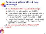 tomasulo s scheme offers 2 major advantages