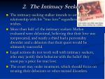 2 the intimacy seeker
