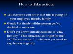 how to take action