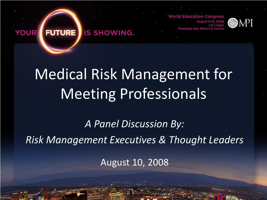 medical risk management for meeting professionals l.