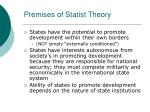 premises of statist theory