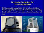 developing technology for the next nexrad