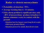 radar detects mesocyclones