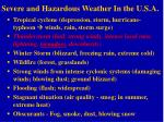 severe and hazardous weather in the u s a