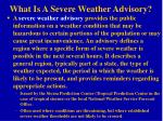 what is a severe weather advisory