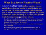 what is a severe weather watch