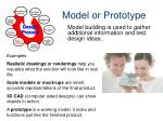 model or prototype