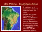 map making topographic maps