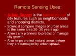 remote sensing uses12