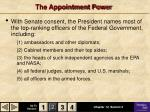 the appointment power
