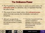 the ordinance power