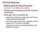 clinical features39