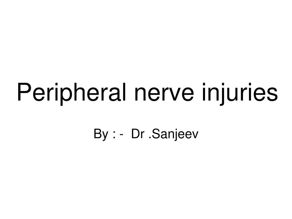 peripheral nerve injuries l.