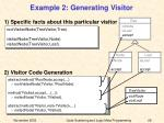 example 2 generating visitor