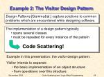 example 2 the visitor design pattern