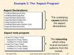 example 3 the aspect program