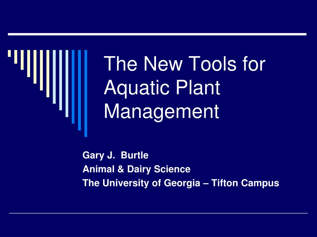 the new tools for aquatic plant management l.