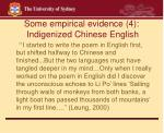 some empirical evidence 4 indigenized chinese english