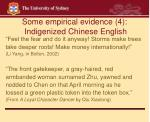 some empirical evidence 4 indigenized chinese english20