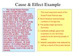 cause effect example