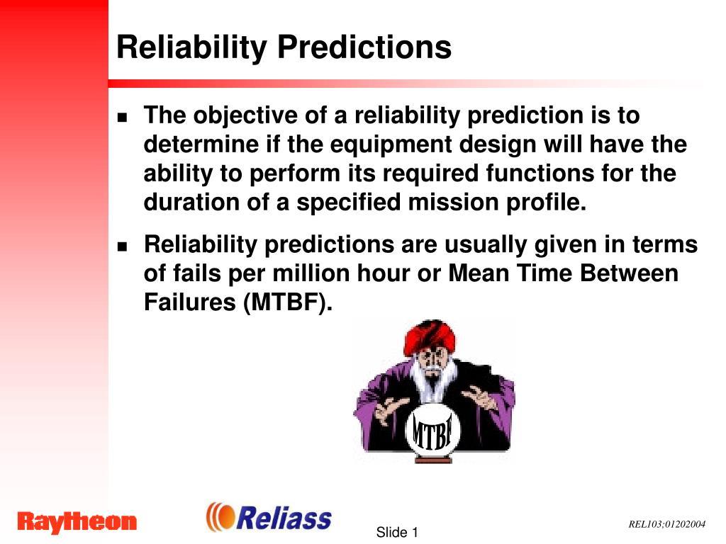 reliability predictions l.
