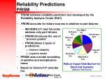 reliability predictions prism