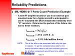 reliability predictions10