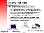reliability predictions11
