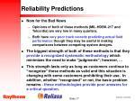 reliability predictions17