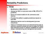 reliability predictions18