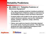 reliability predictions5