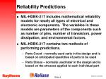 reliability predictions6